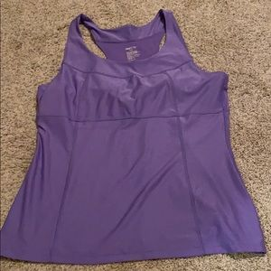 GapBody fitted purple tank top XL